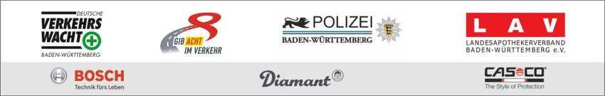 Logo-Leiste Gib Acht, Polizei, LAV